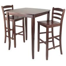 3 Piece Inglewood Set High Table With Ladder Back Bar Stools ...