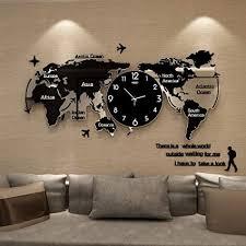 fcx clockuhr weltkarte uhr wand wanduhr modern wohnzimmer