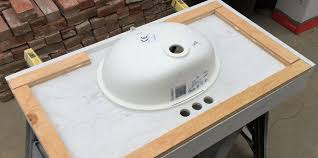 Installing Sink Strainer In Corian by How To Install Corian Solid Surface Vanity Tops Solidsurface Com