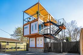 104 Shipping Container Homes In Texas This Multi Level House Is The Coolest Airbnb Houston Travel Leisure