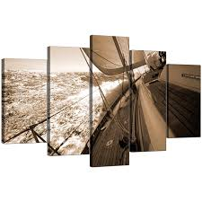 Brown Living Room Ideas Uk by Extra Large Boat Canvas Prints Uk 5 Piece In Brown