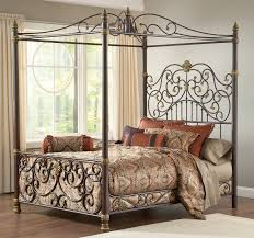 Decorative Pillows Design With Wrought Iron Bed Frames And Cool Bedding For Mediterranean Bedroom Decor