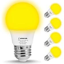 lohas yellow led bug light bulbs a15 led bulb 40w equivalent e26