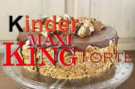 kinder maxi king torte backen leckere torten selber machen karamell einfach schnell zubereiten