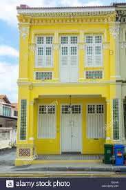 100 Terrace House In Singapore Traditional Peranakan Terrace House Painted Yellow In Joo
