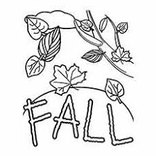 Fall Worksheets For Kids Coloring Page