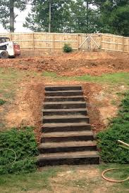 Step By Step! : DIY Garden Steps And Stairs | Landscape Timbers ... Front Yard Landscape Designs In Ma Decorative Landscapes Inc Backyard Landscaping On A Slope On A How To Sloping Diy 25 Trending Sloped Backyard Ideas Pinterest Unique Steep Gardens Simple Minimalist Easy Pertaing To Ideas For Hill Fleagorcom Garden Design The Ipirations Skyggebed With Garten Yards Choaddictscom