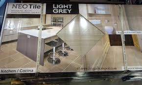 costco sale neo tile groove light grey porcelain tile 10 sq