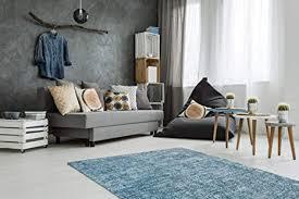 de teppich flachflor modern im vintage design