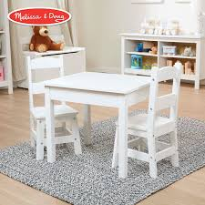 Amazon.com: Melissa & Doug Solid Wood Table & Chairs (Sturdy Wooden ...