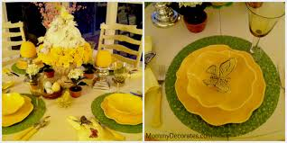 Kitchen Table Spring Flower Cake Centerpiece