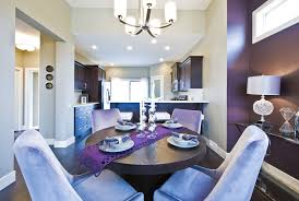 Eggplant Walls Dining Room Contemporary With Open Kitchen Floor Mirrors