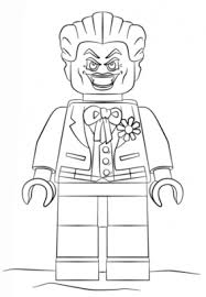 Lego Joker Coloring Page