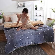 königin größe verdicken lamm kaschmir schlafzimmer winter