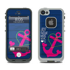 Lifeproof iPhone 5 Case Skin Drop Anchor by Brooke Boothe