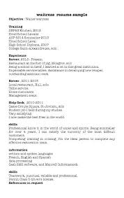 Hostess Resume Restaurant Waitress Example Samples Profile Examples