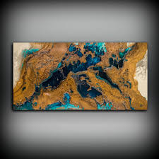 Copper Wall Art Beauteous Giclee Abstract Fine Print From Original Acrylic Inspiration