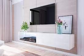 selsey tv lowboard tv hängeboard larka 200 cm mit led beleuchtung in weiß hochglanz