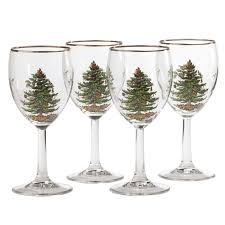 Best Christmas Tree Type Uk by Spode Christmas Tree Wine Glass Set Of 4 Spode Uk