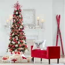 Slim Pre Lit Christmas Trees 7ft by Shop Artificial Christmas Trees Pre Decorated Pre Lit U0026 Pop Up