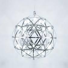 Mzithern Modern Geometric Chandelier In Chrome 12