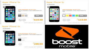IPhone 5s And IPhone 5c Boost Mobile ficial Price