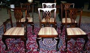 Mahogany Dining Room Set Antique Chairs Impressive Decoration