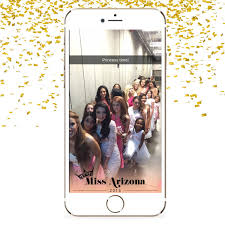 custom snapchat geofilter pageant miss arizona miss
