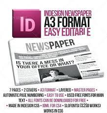 Newspaper Layout Design Indesign Modern Magazine Template