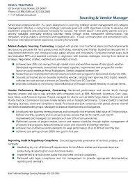 Resume Examples Vendor Management Rh Com And Contract Software Governance