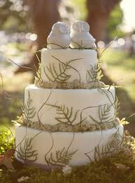 Cool Country Wedding Cake Ceramic Owl Toppers