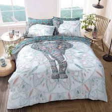 Pieridae Elephant Mandala Double Duvet Cover Quilt Cover Bedding