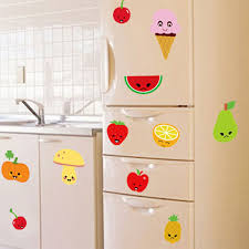 Cheap Sale Colorful Fruits Watermelon Strawberry Vegetables Wall Stickers For Kitchen Lovely Warm Decor Refrigerator