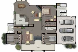 Bedroom House Design Floor Plan Ideas Estate Bc Loft Oakwood Your Own Patio Post Beam Within Low Budget Modern 3