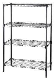 Sterilite 4 Shelf Cabinet Home Depot by Finnhomy 4 Tier Thicken Pole Heavy Duty Wire Shelving Unit