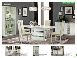 Dining Room Furniture Modern Formal Sets Roma White Italy