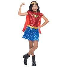 Buy Kids Wonder Woman Girls Marvel Sequin Superhero Halloween