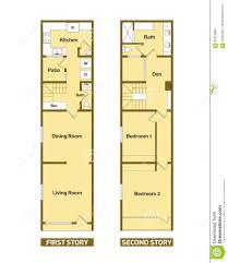 100 Modern Architecture Plans Floor House Stock Vector Illustration Of
