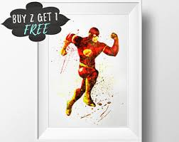 Superhero Comic Wall Decor by Dc Comics Wall Art Etsy