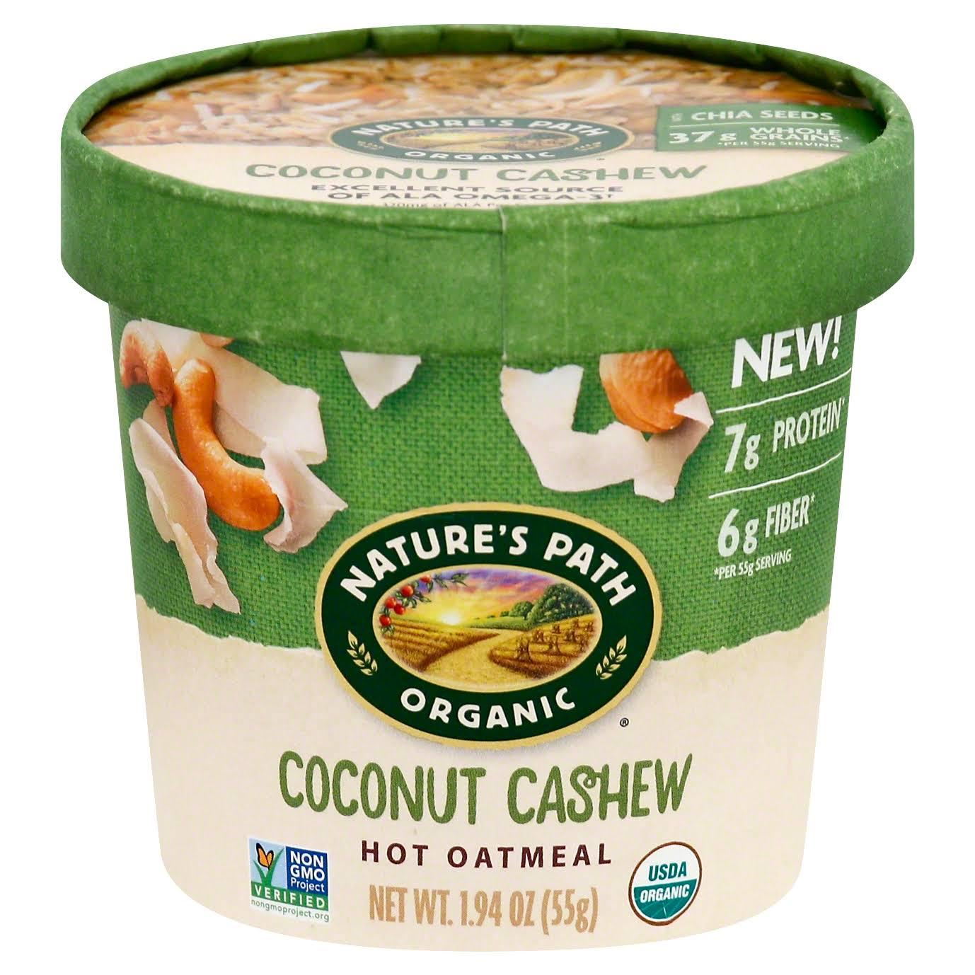 Natures Path Organic Oatmeal, Hot, Coconut Cashew - 1.94 oz