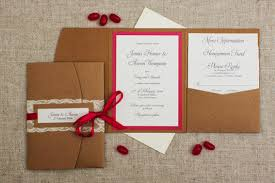 Pink Pocketfold Wedding Invitation Rustic With Touches Invitations
