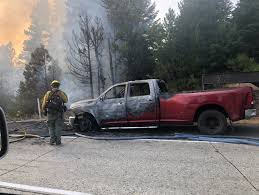 100 Brush Fire Truck Car Fire On I90 Sparks Brush Fire Near Cle Elum WB Lanes Affected