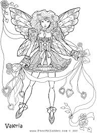 Lovely Anime Fairy Coloring Pages 22 For Your Adults With