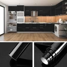 folie küche schwarz 60x500cm 3 aus hochwertigem pvc aufkleber für schrank tapeten küche klebefolie möbel wasserfest selbstklebende folie