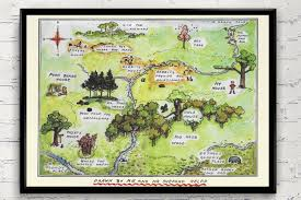 130 Best Winne The Pooh by 100 Aker Wood Winnie The Pooh Map The Hundred Acre