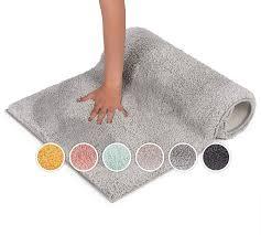 blumtal badezimmerteppich rutschfest weiche badematte badvorleger badeteppich 50x80 cm light grey