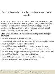 Waiter Resume Sample Related Post