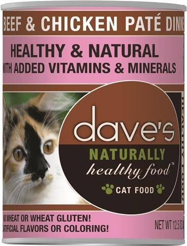 Dave's Naturally Healthy Canned Cat Food - Beef & Chicken Pate