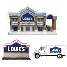 Christmas Eve Lowe's Porcelain Building With Sign & Truck ...