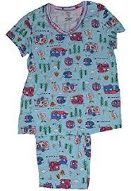 RV There Yet RVs All Over Blue 2 Piece Knit Pajama Sleep Set